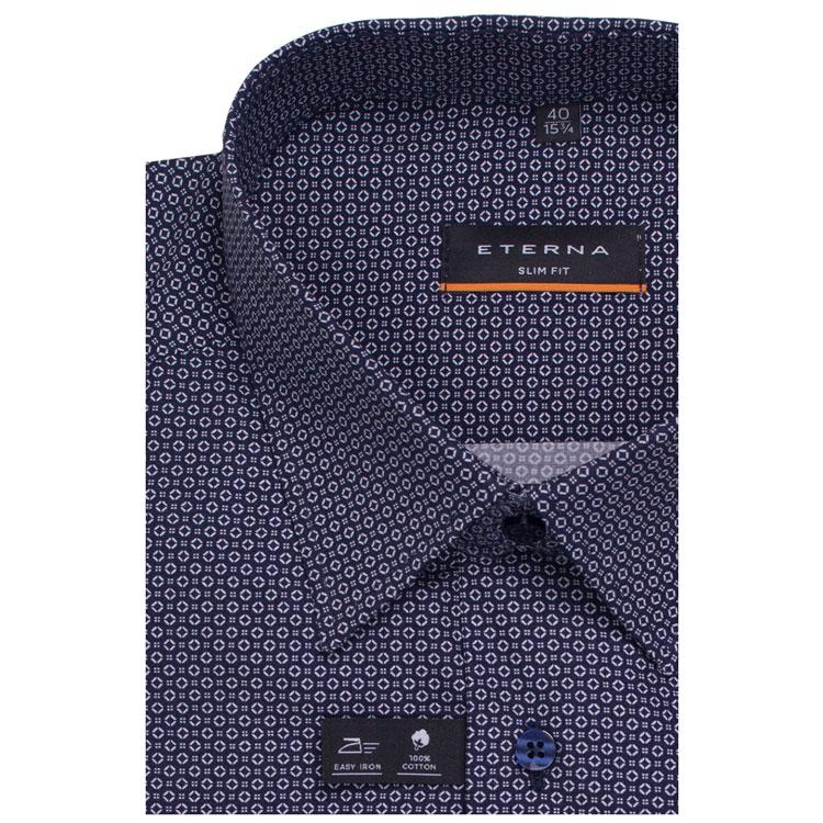 61a0f5f14d5991c Eterna Slim Fit Этерна 8597/19 F18B Мужская сорочка (рубашка) синяя ...